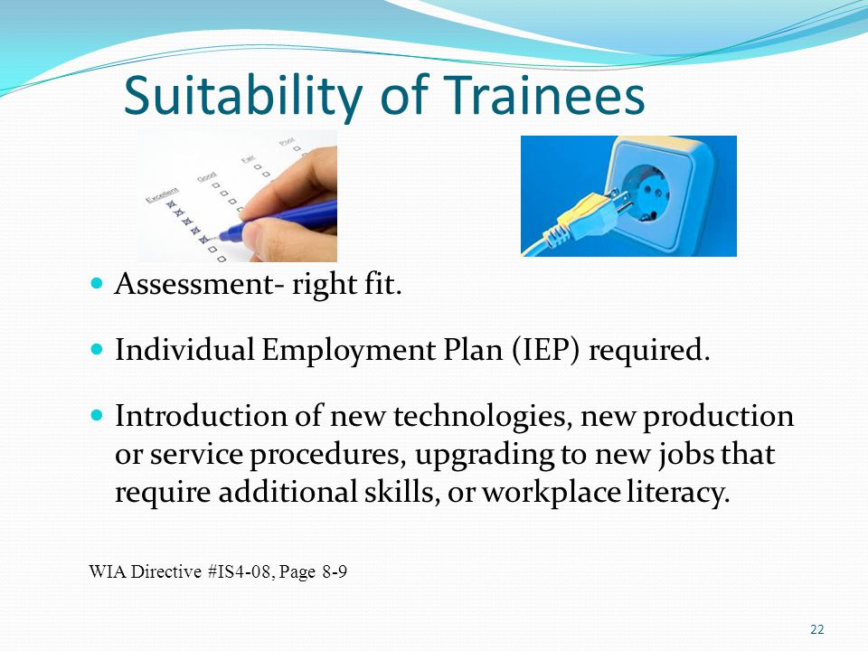 Suitability of Trainees