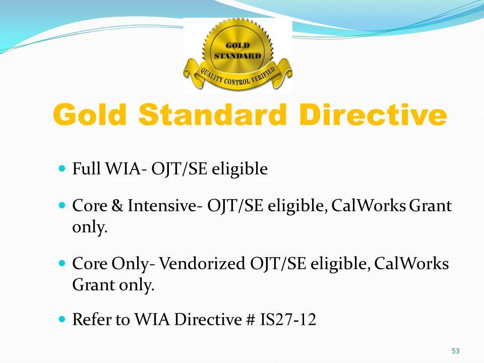 Gold Standard Directive