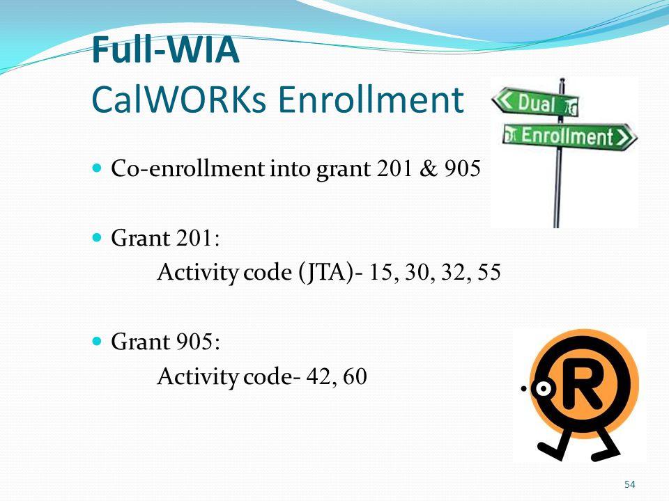 Full-WIA CalWORKs Enrollment