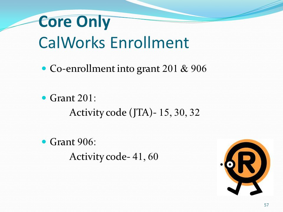 Core Only CalWorks Enrollment