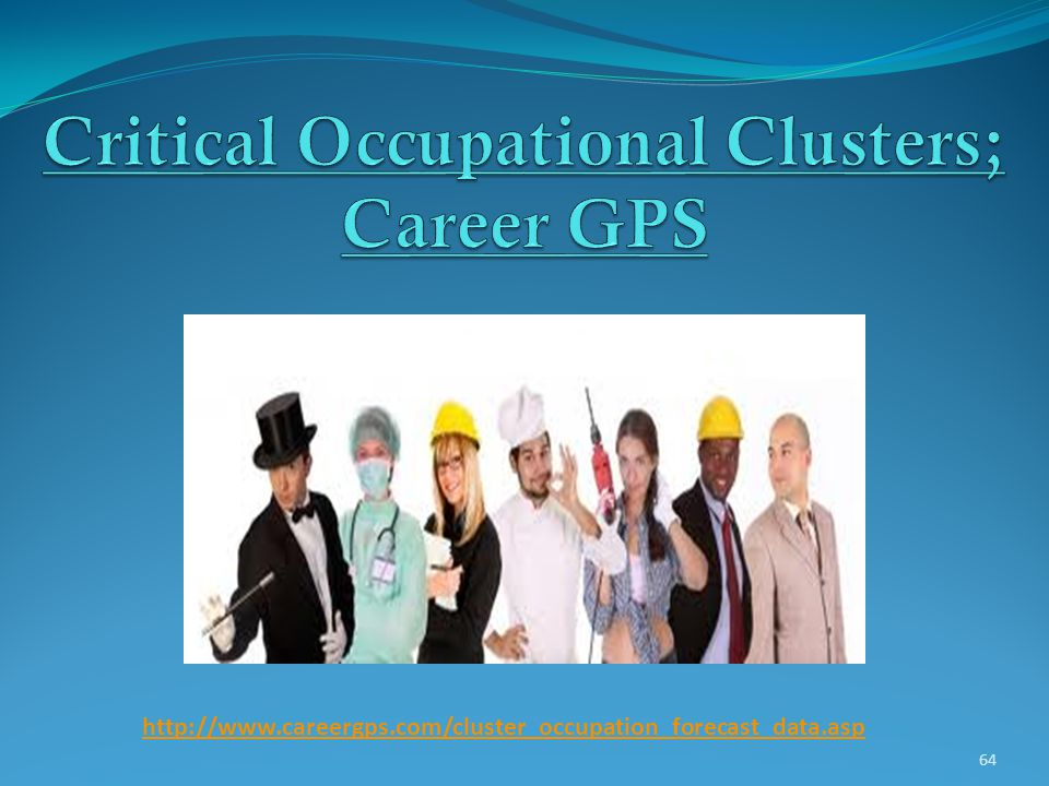 Critical Occupational Clusters; Career GPS