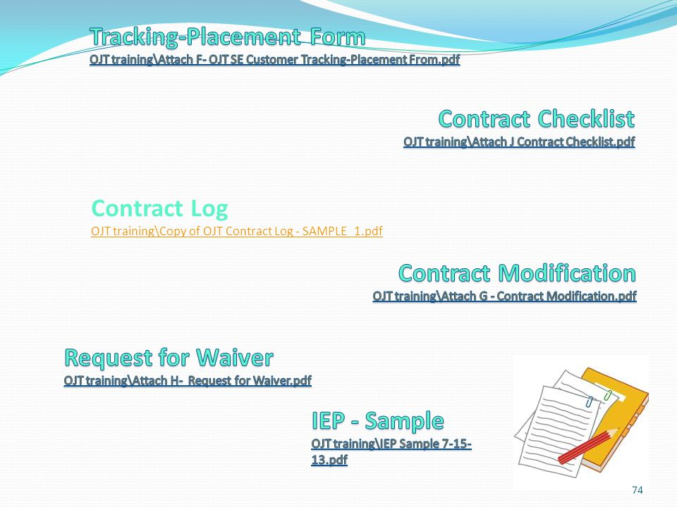 Contract Log OJT training\Copy of OJT Contract Log - SAMPLE_1.pdf
