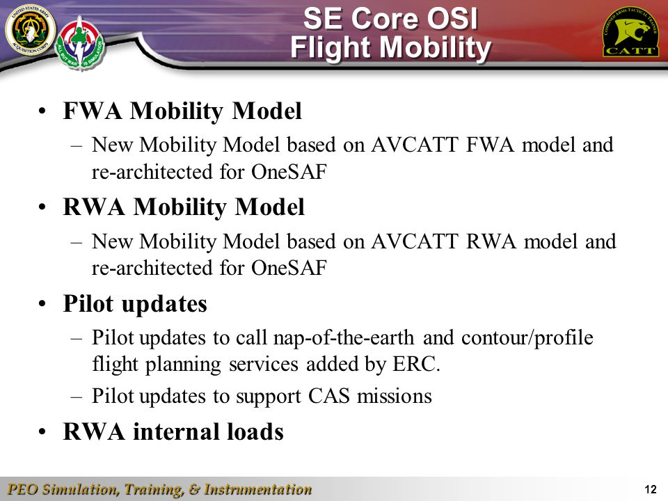 SE Core OSI Flight Mobility