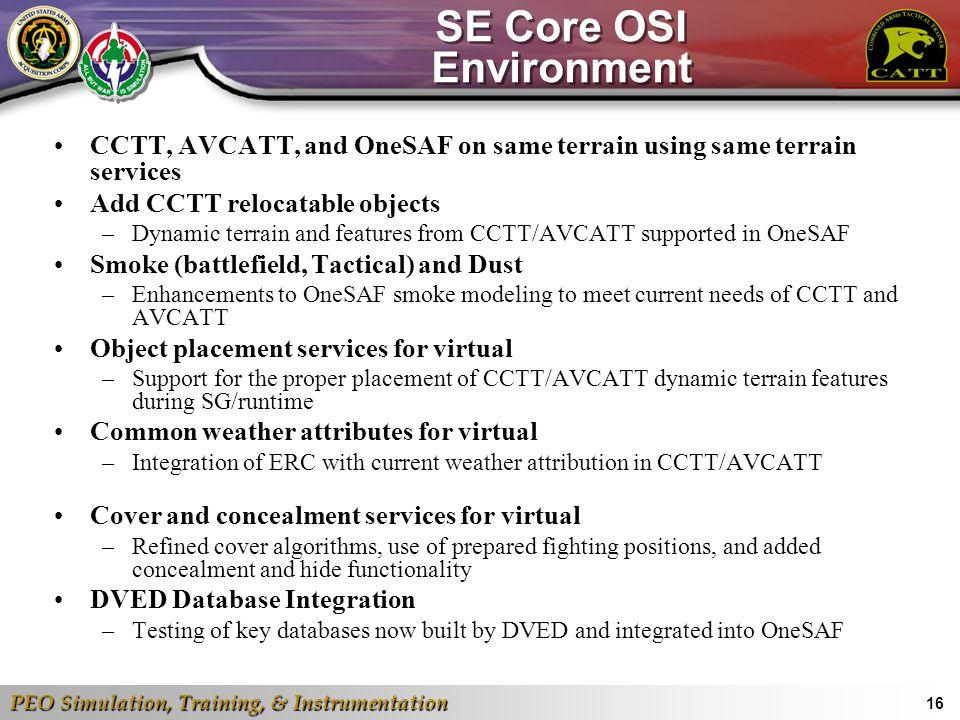 SE Core OSI Environment
