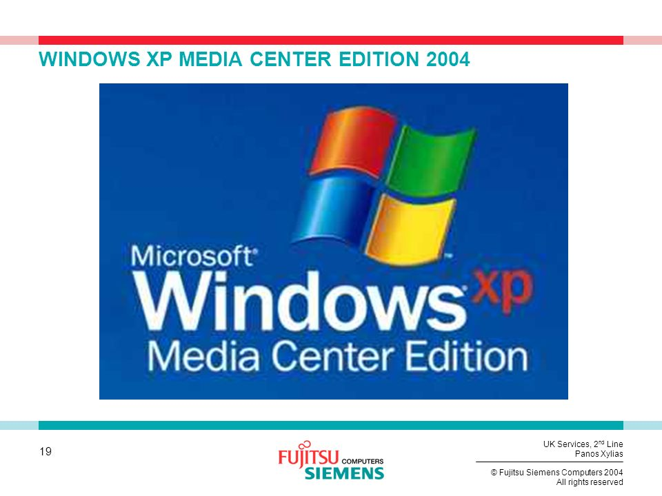 WINDOWS XP MEDIA CENTER EDITION 2004
