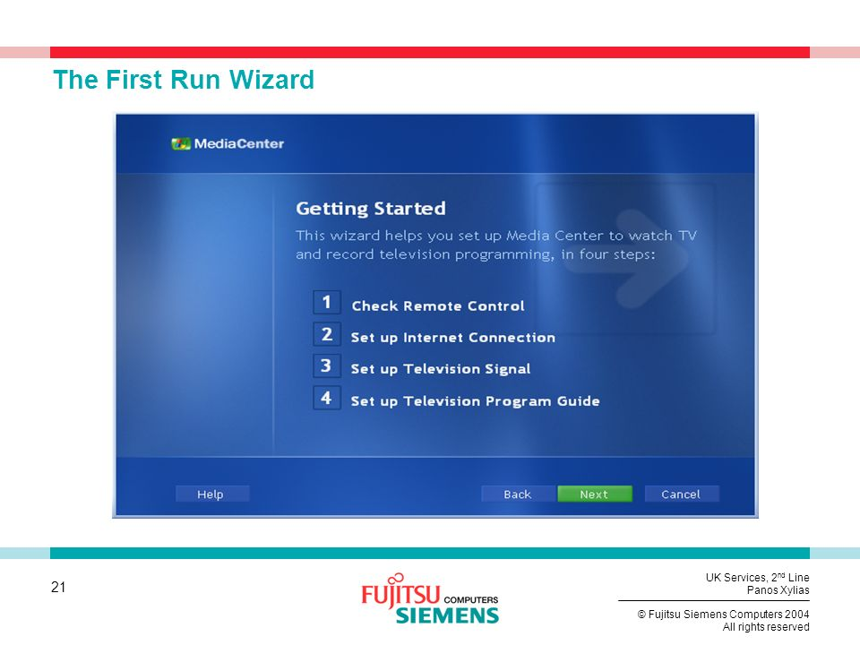 The First Run Wizard