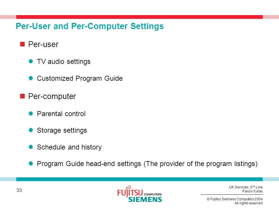 Per-User and Per-Computer Settings