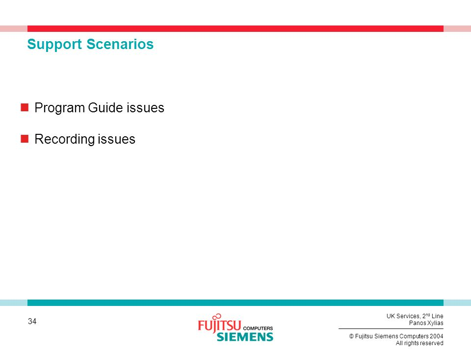 Support Scenarios Program Guide issues Recording issues