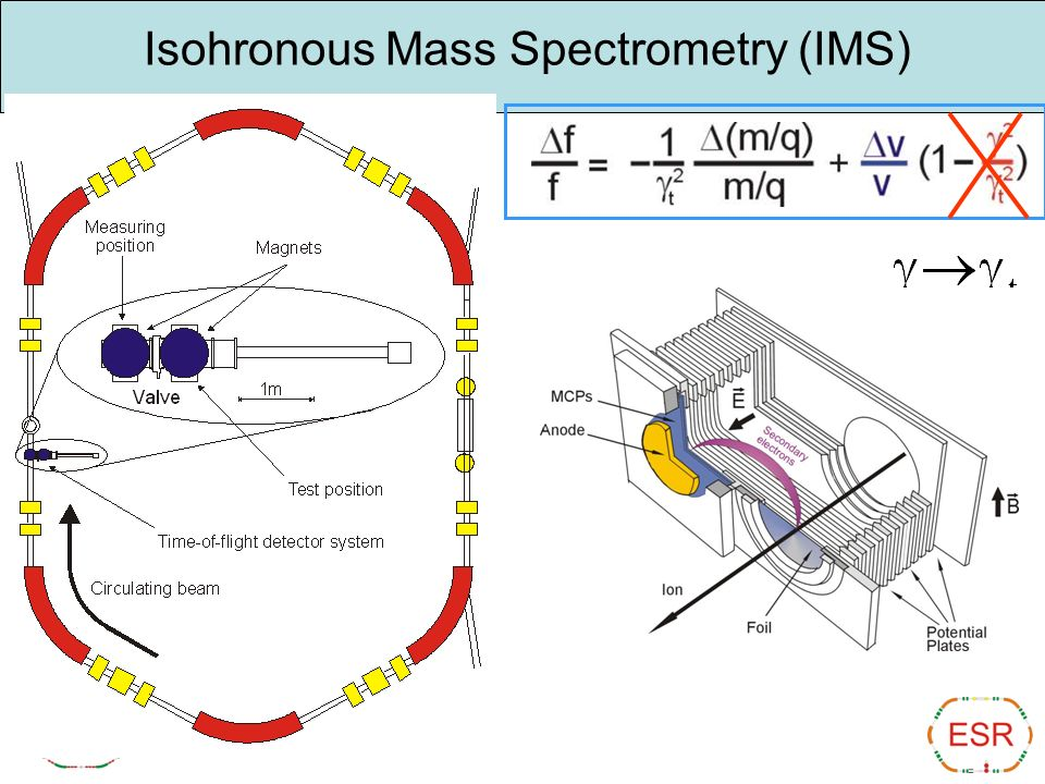Isohronous Mass Spectrometry (IMS)