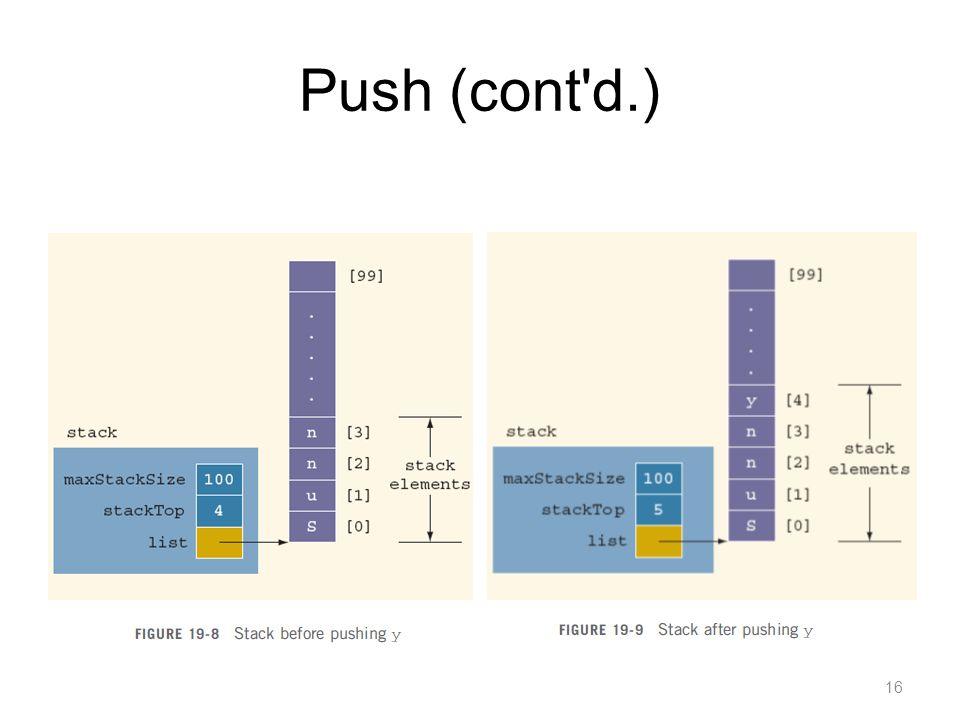 Push (cont d.)