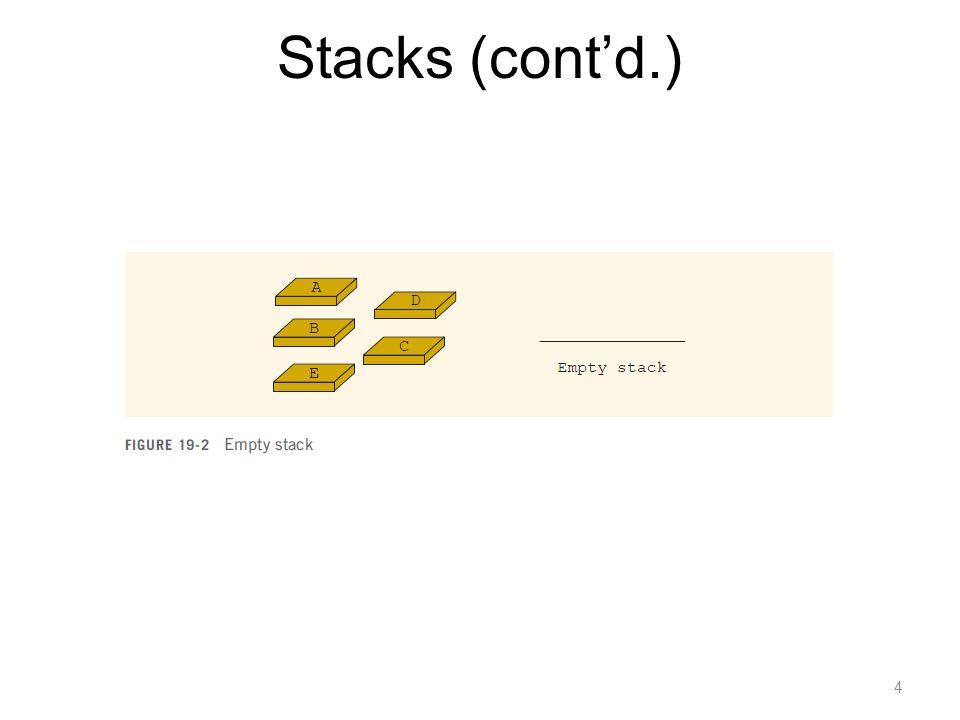 Stacks (cont'd.)