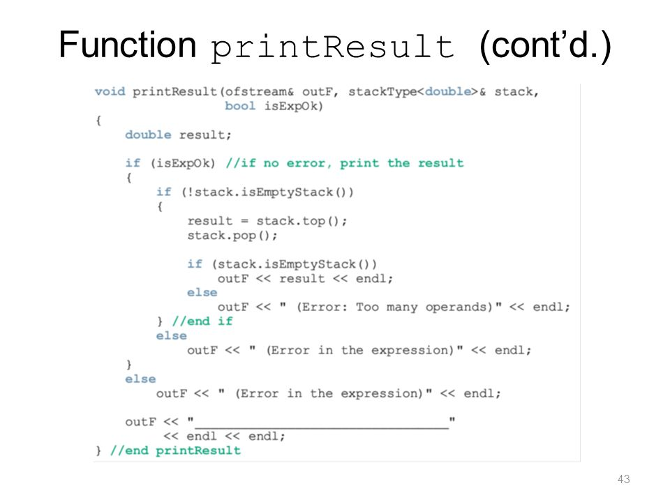 Function printResult (cont'd.)
