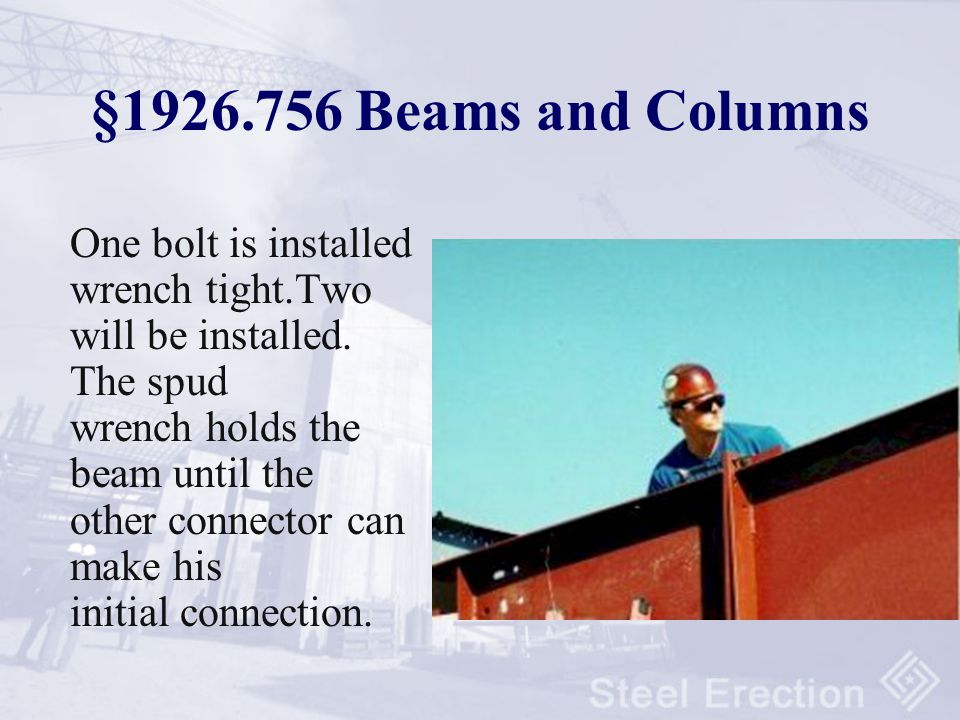 §1926.756 Beams and Columns