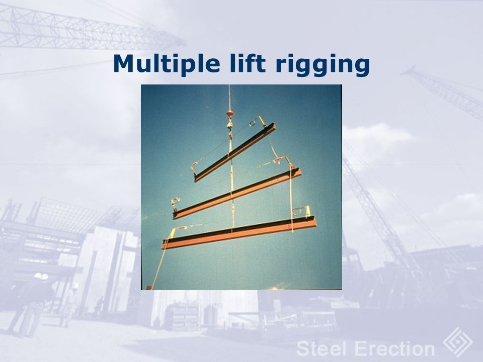Multiple lift rigging