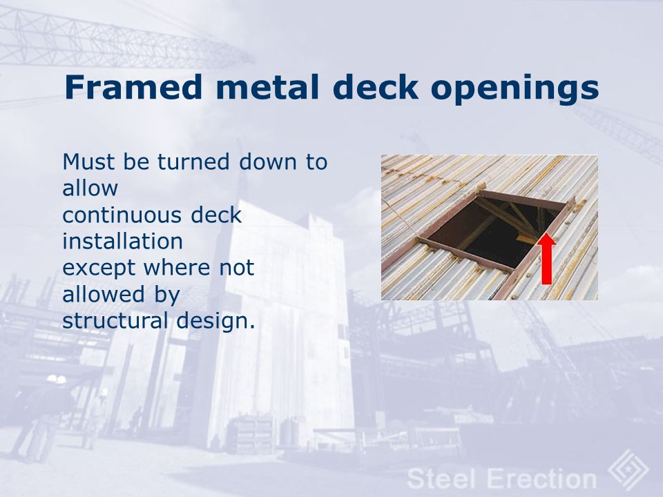 Framed metal deck openings