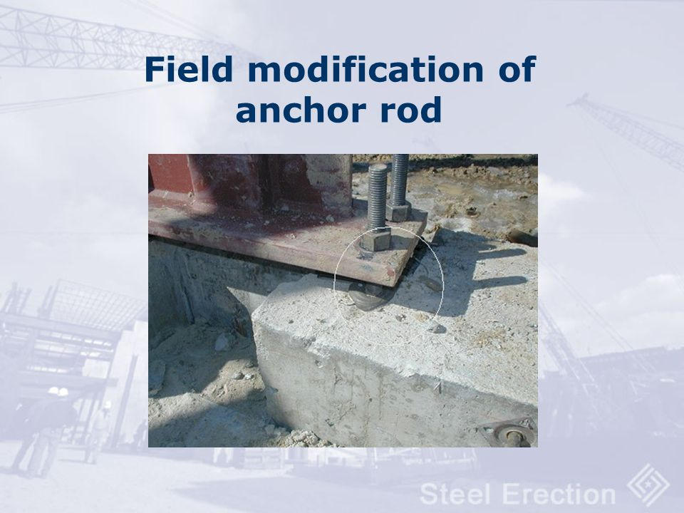 Field modification of anchor rod