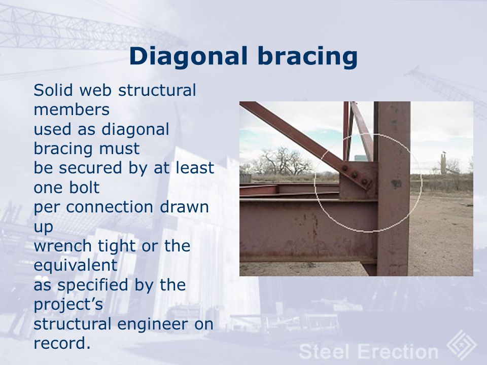 Diagonal bracing