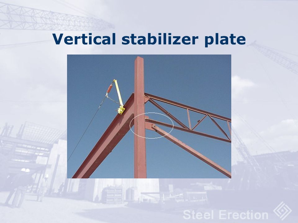 Vertical stabilizer plate