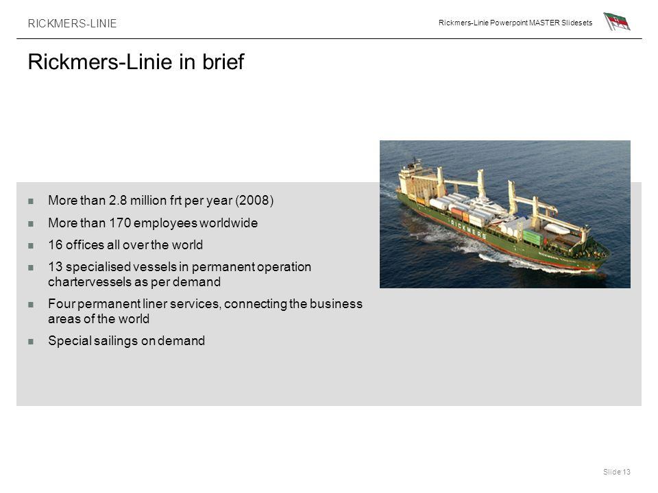 Rickmers-Linie in brief