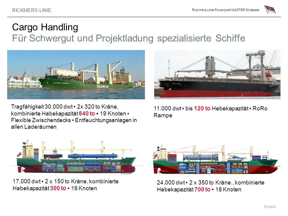 Cargo Handling Für Schwergut und Projektladung spezialisierte Schiffe