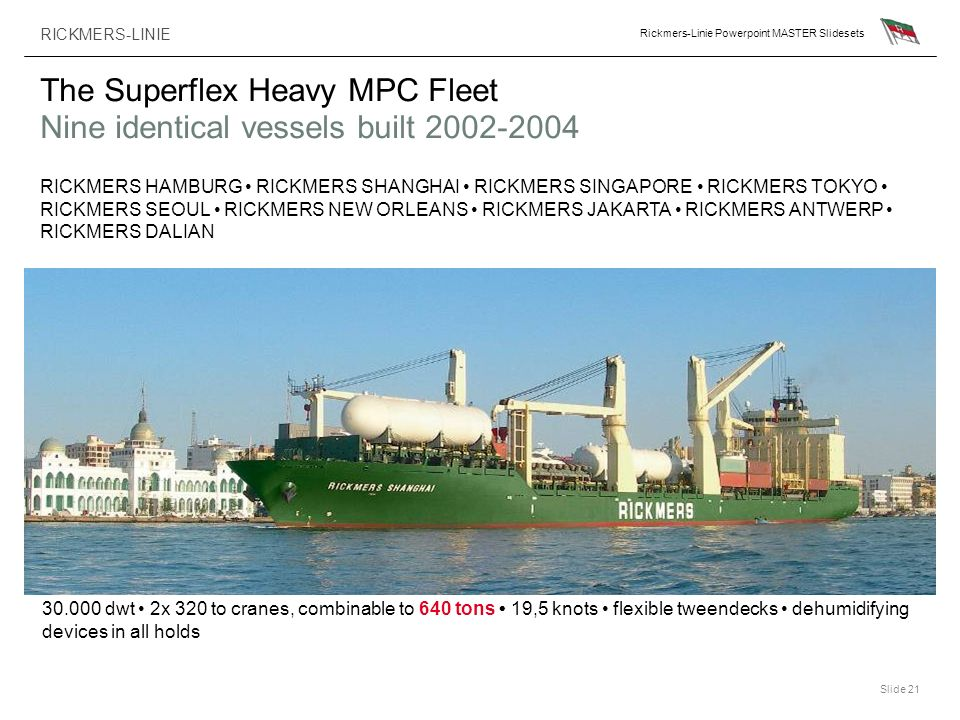 The Superflex Heavy MPC Fleet Nine identical vessels built