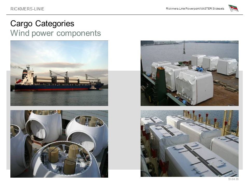 Cargo Categories Wind power components