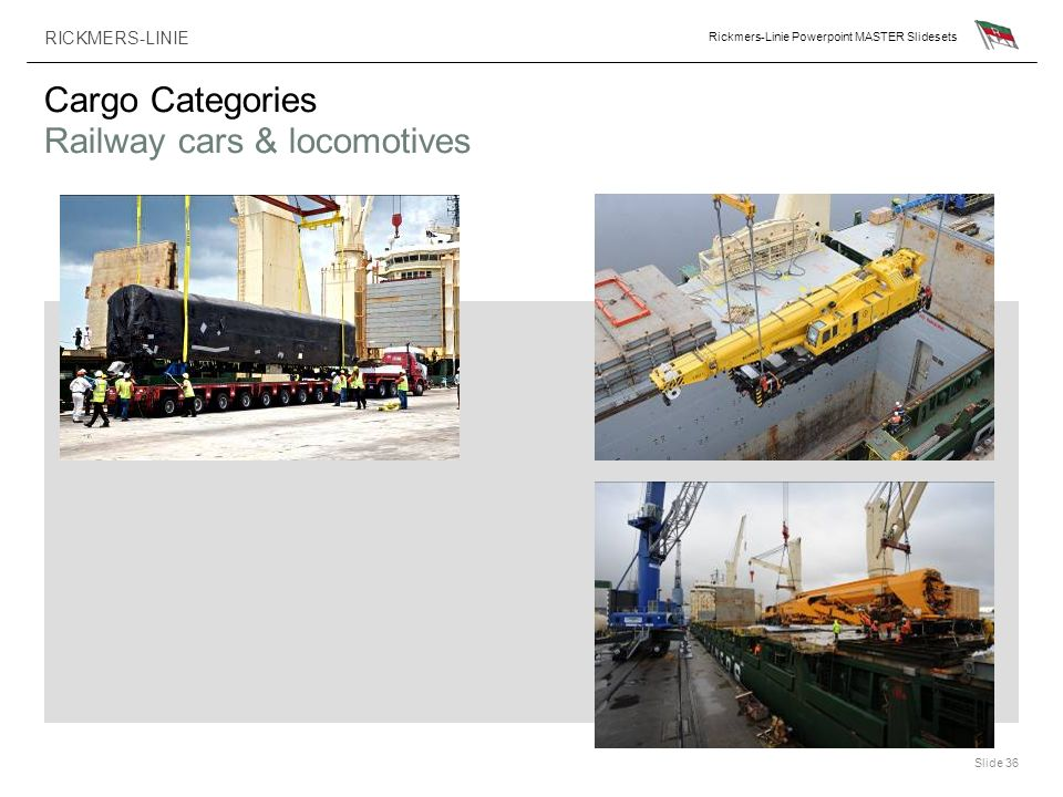 Cargo Categories Railway cars & locomotives