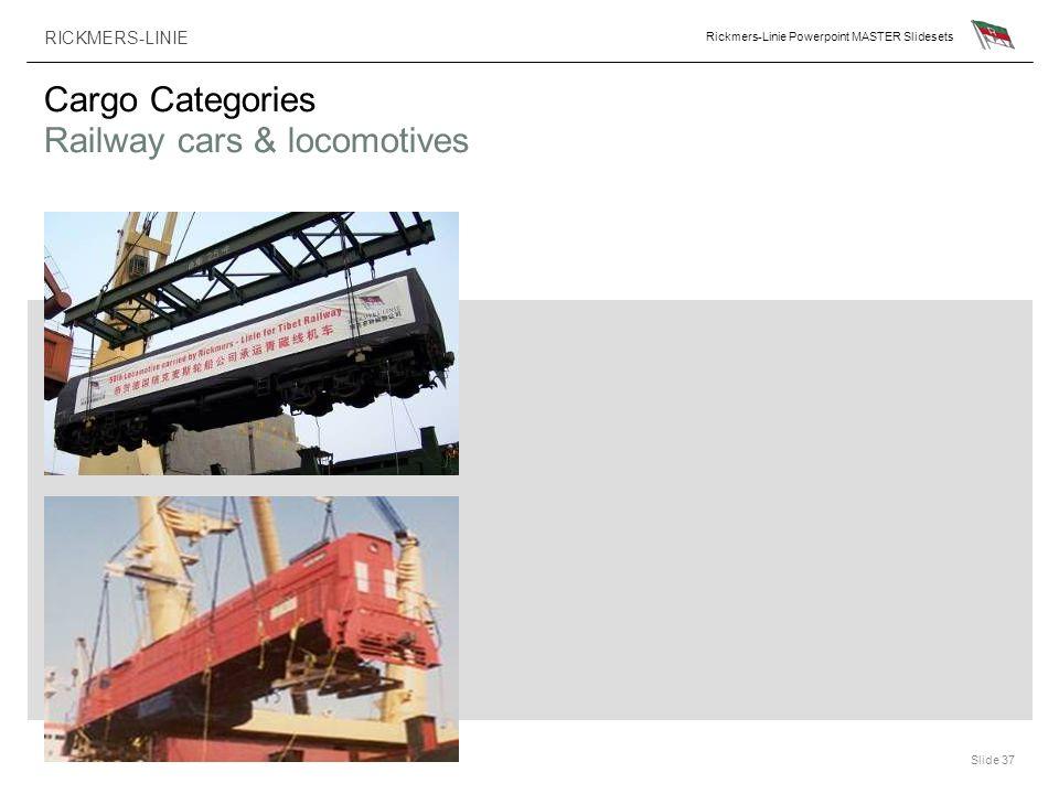 Cargo Categories Railway cars & locomotives