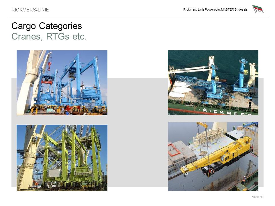 Cargo Categories Cranes, RTGs etc.