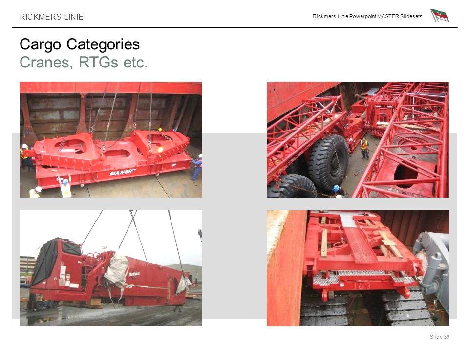 Cargo Categories Cranes, RTGs etc.