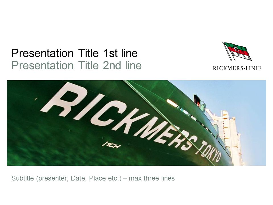 Presentation Title 1st line Presentation Title 2nd line