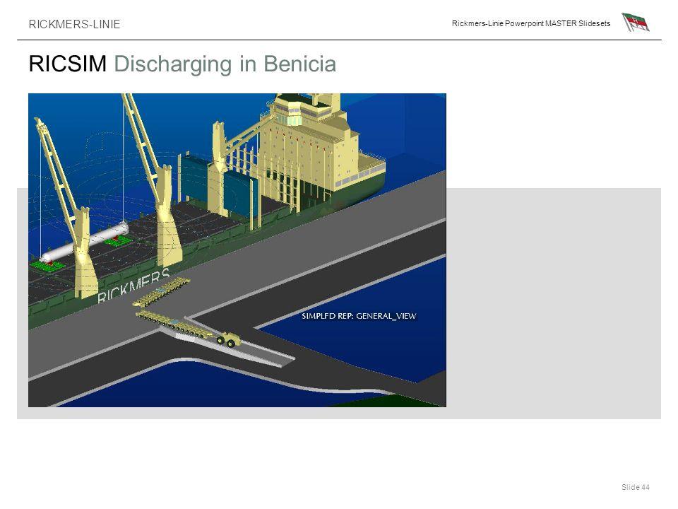 RICSIM Discharging in Benicia