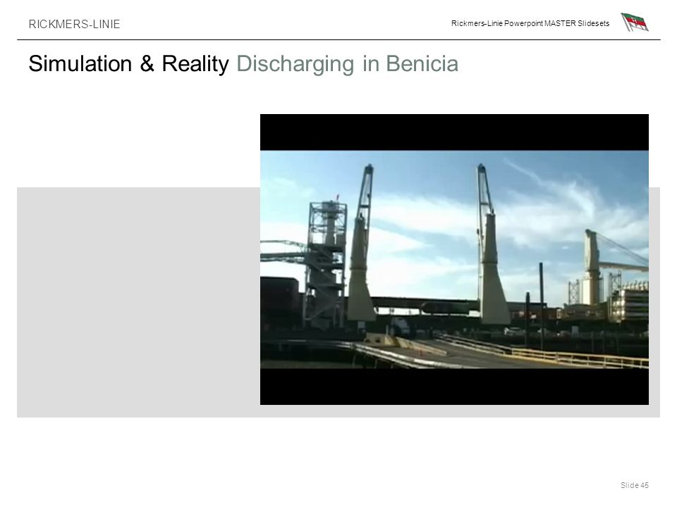 Simulation & Reality Discharging in Benicia