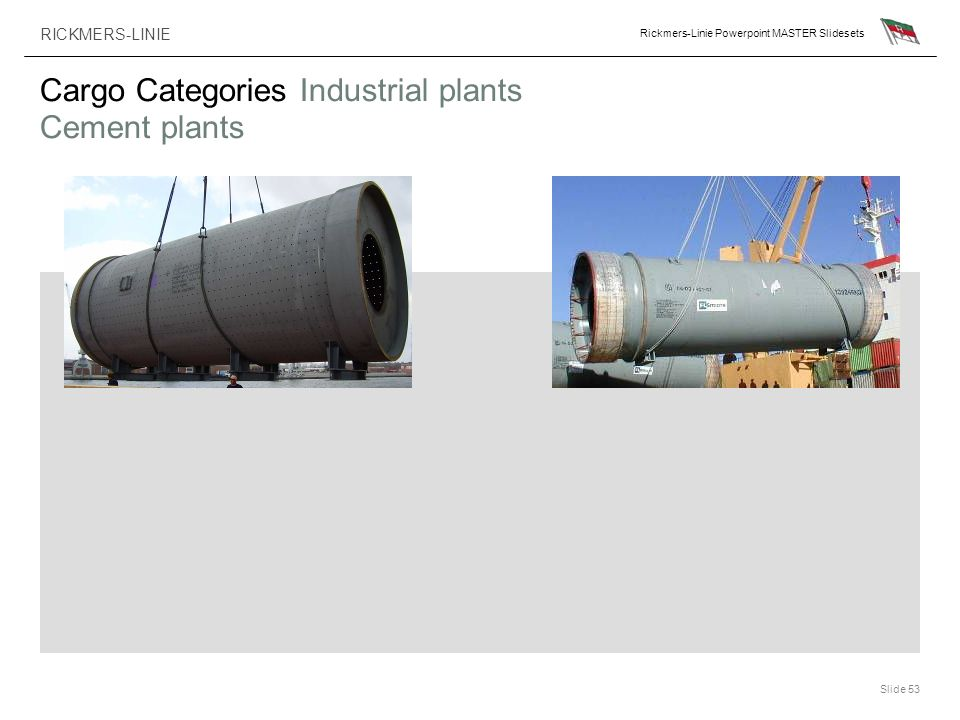 Cargo Categories Industrial plants Cement plants