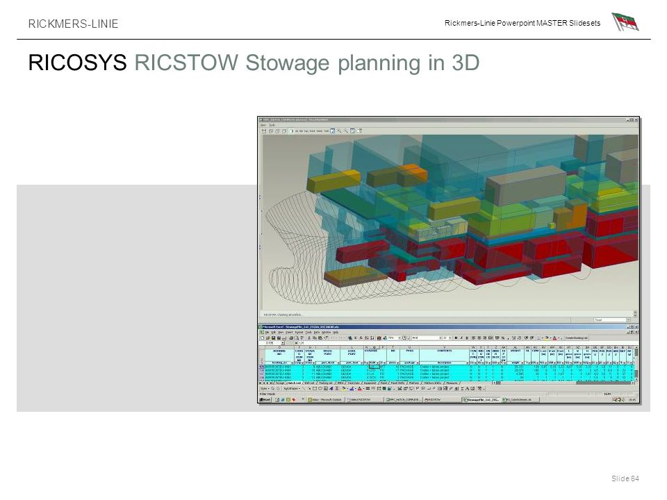 RICOSYS RICSTOW Stowage planning in 3D