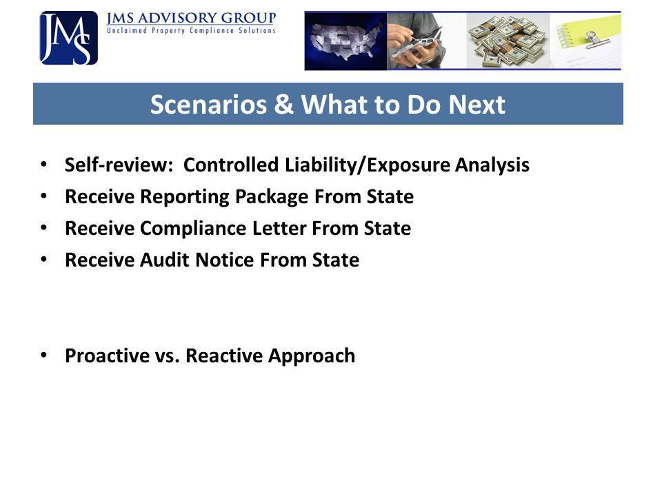 Scenarios & What to Do Next
