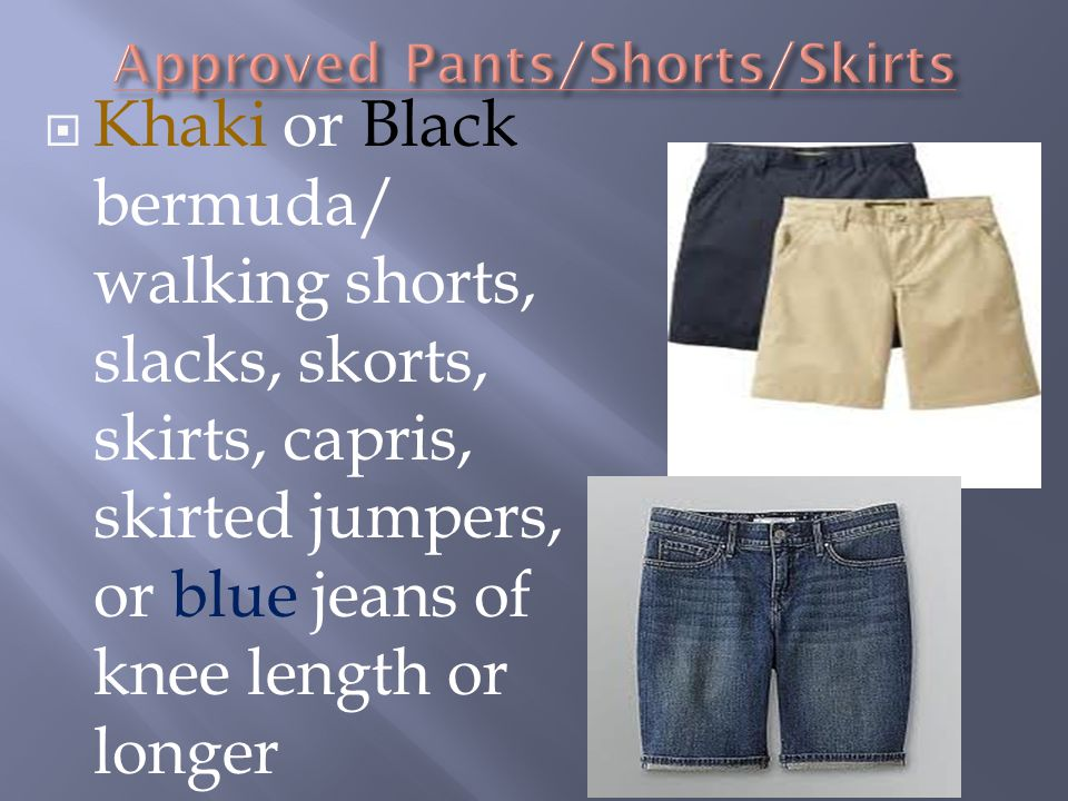 Approved Pants/Shorts/Skirts
