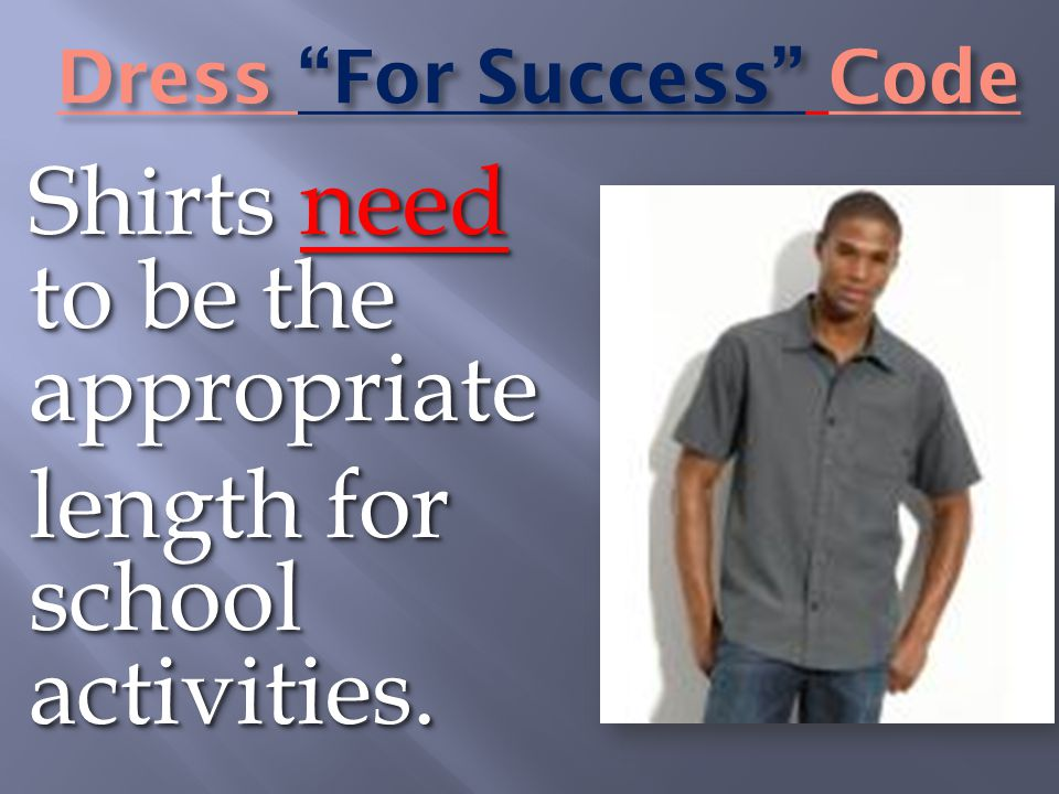 Dress For Success Code