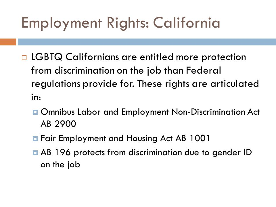 Employment Rights: California