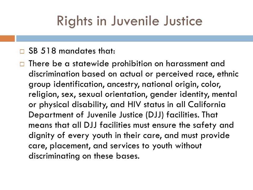 Rights in Juvenile Justice