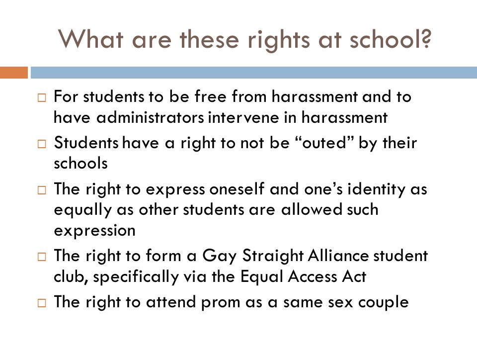 What are these rights at school
