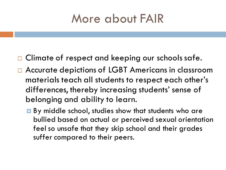 More about FAIR Climate of respect and keeping our schools safe.