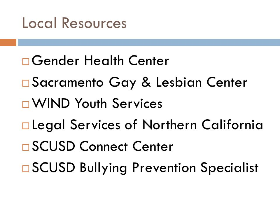 Local Resources Gender Health Center Sacramento Gay & Lesbian Center