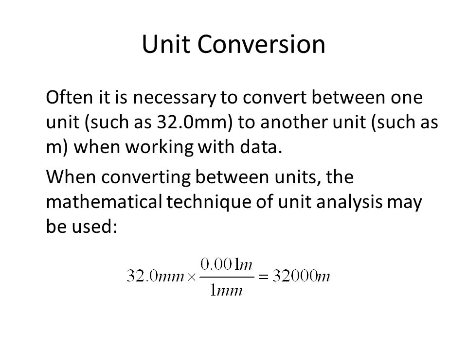 Unit Conversion