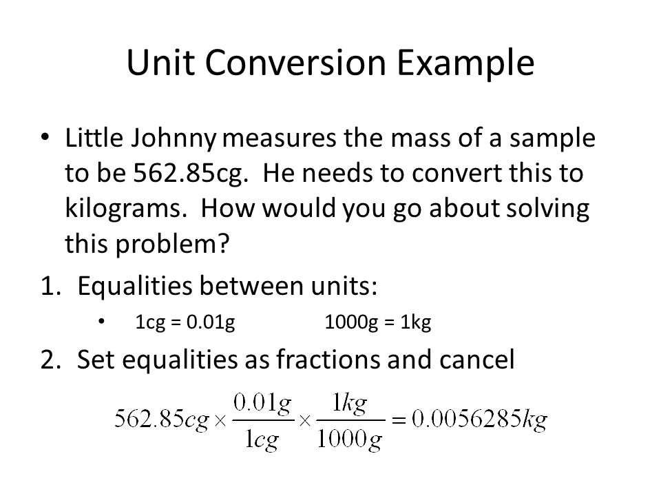 Unit Conversion Example