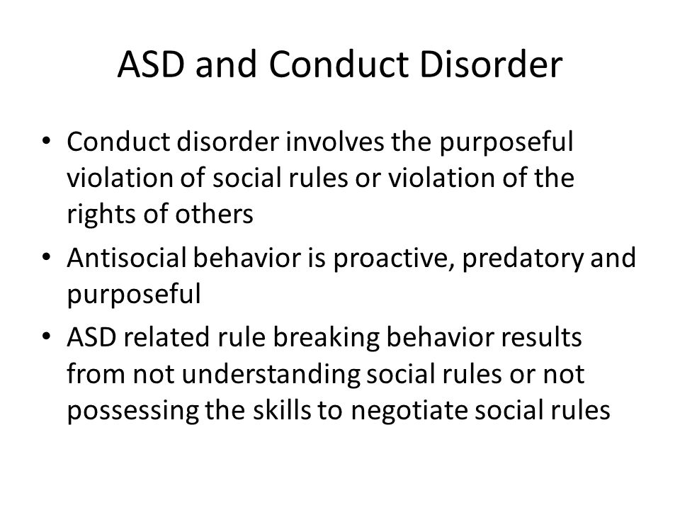 ASD and Conduct Disorder