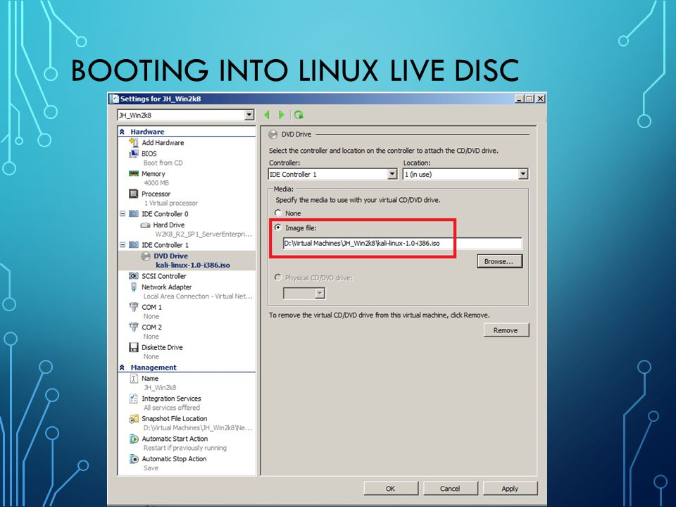 Booting Into Linux Live Disc