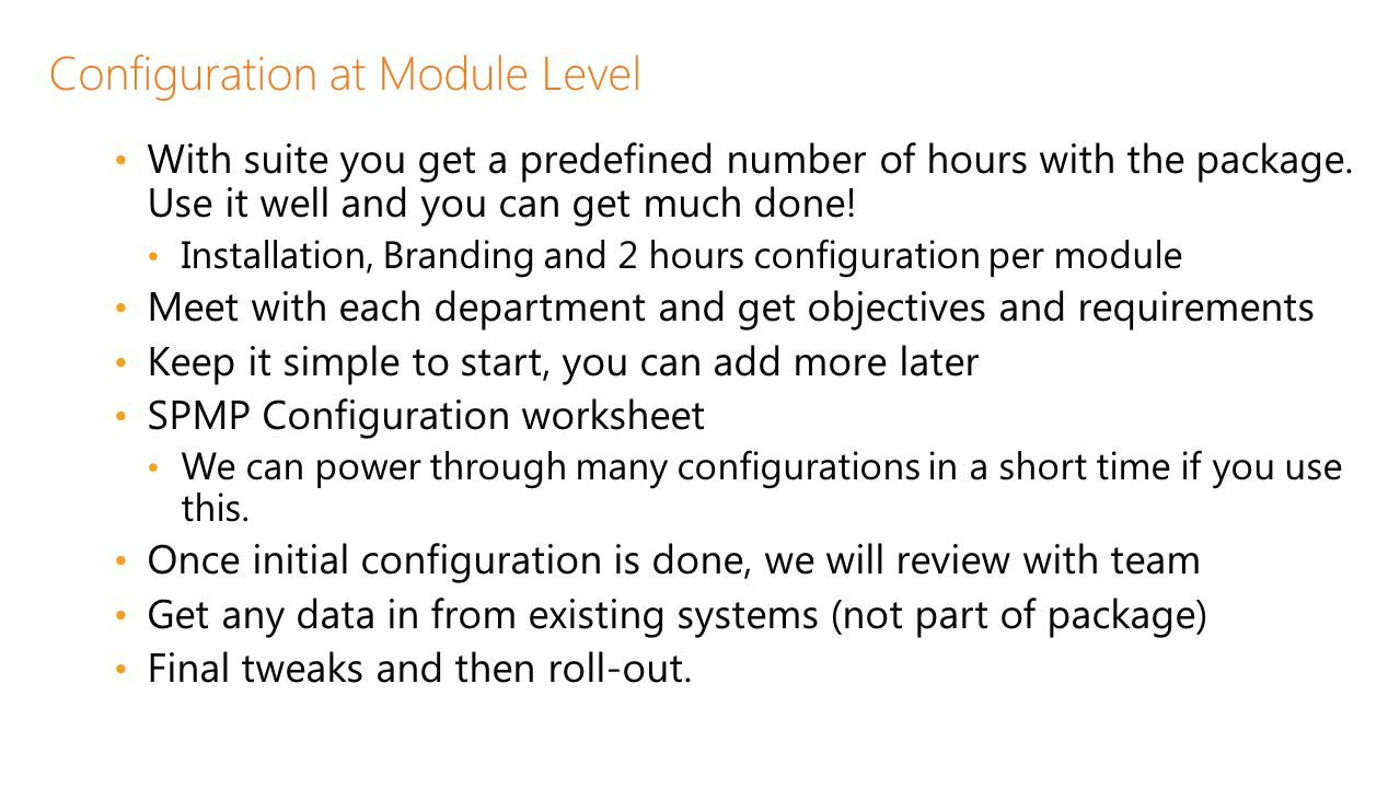 Configuration at Module Level
