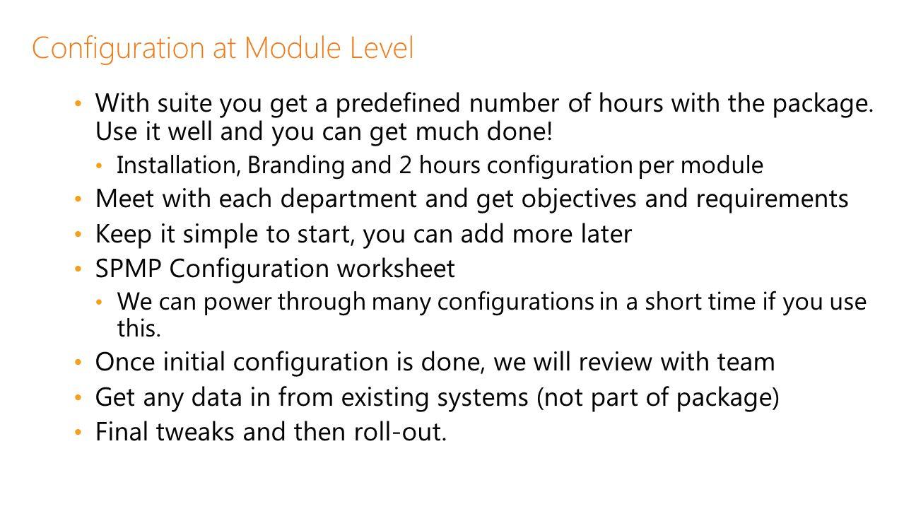 Configuration at Module Level