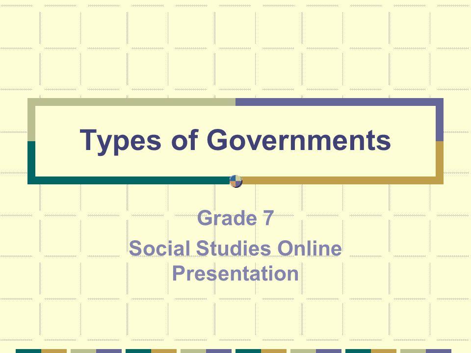 Grade 7 Social Studies Online Presentation